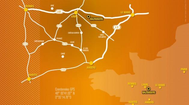 Localisation de Laser 53 à Bazougers 53170